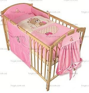 Детское постельное белье «Медвежонок», розовый, 0086-10