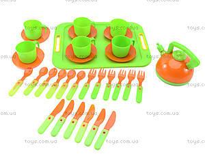 Набор посуды с подносом, 32 предмета, 04-421, цена