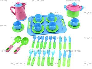 Комплект посуды с подносом и чайником, 04-426, цена