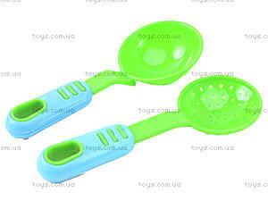 Набор игрушечной посуды с подносом «Сервиз», 04-424, цена