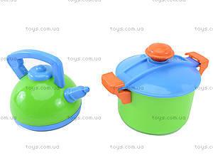 Набор игрушечной посуды с подносом «Сервиз», 04-424, игрушки
