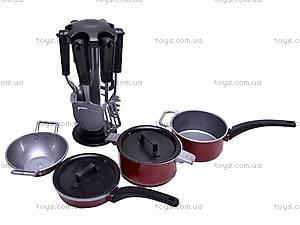 Посуда для детской кухни, с кастрюлями, TX40840