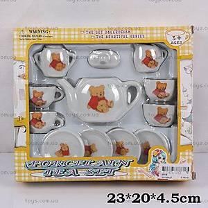 Посуда фарфоровая с чайником, 001B