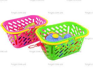 Детский набор посуды в корзинке, 04-435, цена