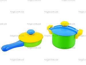 Детский набор посуды в корзинке, 04-435, игрушки