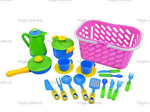 Игрушечный набор посуды в корзинке , 04-436, игрушки