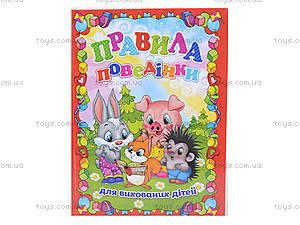 Детская книжка «Правила поведения для воспитанных детей», 2594, цена