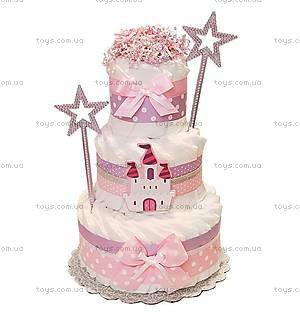 Торт из подгузников для девочки Princess castle, PPC29