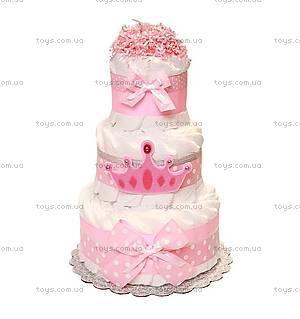 Торт из подгузников для девочки Princess crown, BH30