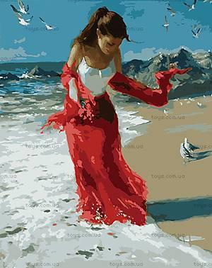 Прогулка по пляжу, рисование по номерам, КН1059, купить