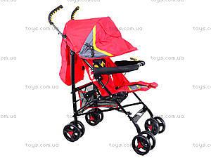 Прогулочная коляска-трость, красная, BT-SB-0002 RED, игрушки
