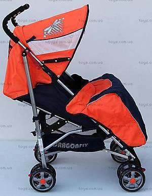 Прогулочная коляска-трость, оранжевая, DF-02