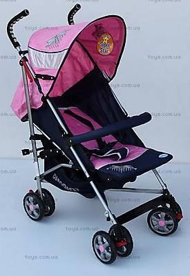 Прогулочная коляска-трость, розовая, DF-02