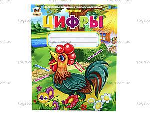 Прописи «Цифры», на русском языке, Талант, магазин игрушек