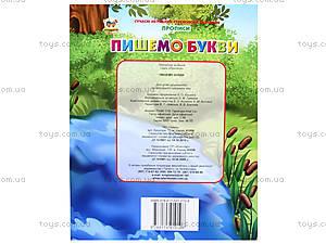 Прописи для детей «Пишем буквы», Талант, купить