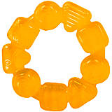 Прорезыватель для зубок «Карамельный круг» оранжевый, 10204-1, Украина