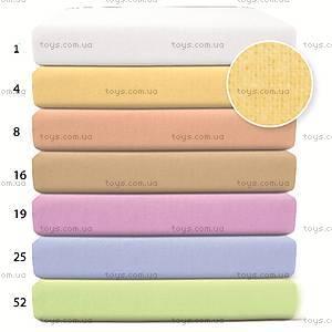 Простынь на резинке фланель, желтая, 0031-4