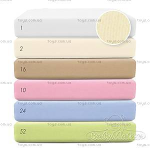Велюровая простыня на резинке, белая, 0030-1