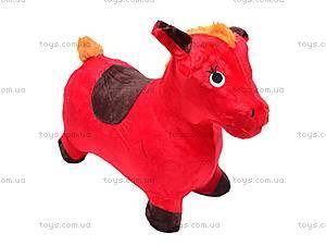 Прыгун для детей плюшевый «Лошадка», MS0325, детские игрушки