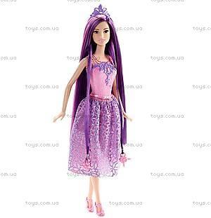 Кукла-принцесса Barbie серии «Сказочно-длинные волосы», DKB56, игрушки