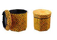Пуфик-короб для хранения игрушек «Ананас», C30192, игрушки
