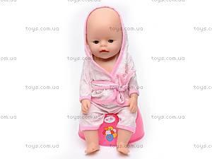 Пупс Baby Doll, с соской, 863578-18