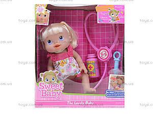Пупс-девочка с докторским набором, 808E-6, игрушки