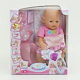 Пупс функциональный в розовом костюме, 8006-17, купить