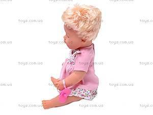 Пупс интерактивный детский «Лялечка», 30667-4, магазин игрушек