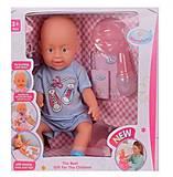 Пупс мальчик с детскими аксессуарами, 8007-434B, отзывы