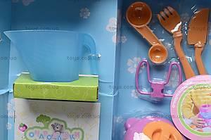Пупс «Очаровашки» с посудой, 5336, фото
