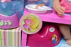 Пупс «Очаровашки» с посудой, 5336, игрушки