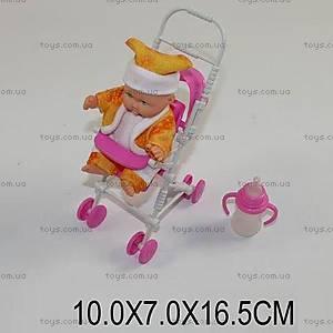 Пупс, с коляской и бутылочкой, 336-71