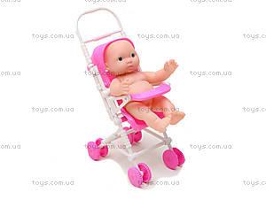 Розовый пупсик девочка в коляске, YD416-1, купить