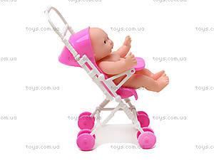 Розовый пупсик девочка в коляске, YD416-1, фото