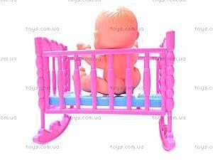 Пупс в кроватке, 8008-42, фото