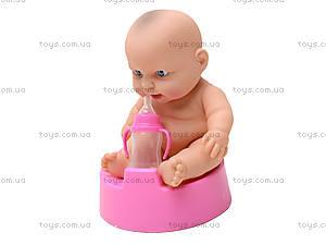 Детский пупс на горшочке для девочки, 3A-710, купить