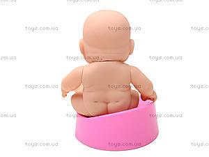 Детский пупс на горшочке для девочки, 3A-710, фото