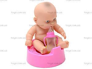 Детский пупс на горшочке для девочки, 3A-710, цена
