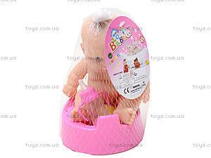 Детский пупс на горшочке для девочки, 3A-710, игрушки