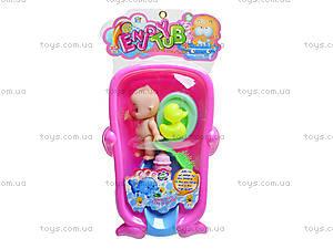 Маленький пупс в ванночке, 669-226B1, игрушки