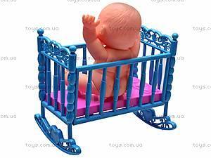 Пупсик в кроватке, 8008-45, фото