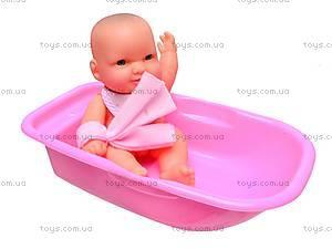 Пупсик в ванночке с аксессуарами, 0905-07, отзывы