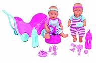 Пупсы-близнецы мини NBB с коляской и аксессуарами, 5 032 367, фото
