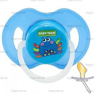 Пустышка латексная ортодонтическая ночная синяя от 6 месяцев, 3204-1