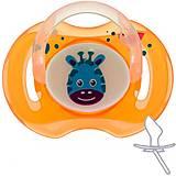 Пустышка силиконовая ортодонтическая от 0 месяцев оранжевая Bayby, BPC6302, детский