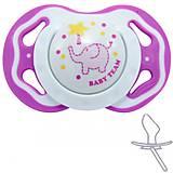 Пустышка силиконовая ортодонтическая от 6 месяцев Baby team, 3011-2, цена
