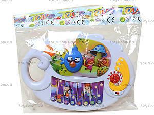 Музыкальное пианино «Птички», 318-9C, игрушки