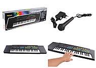 Пианино на батарейках, микрофон, 37 клавиш (TK3738), TK3738, фото