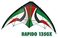 Пилотажный кайт Rapido 135GX, PG1033, набор